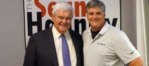 Sean and Newt Gingrich in studio