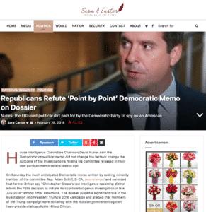 Sara Carter Website - SaraACarter.com