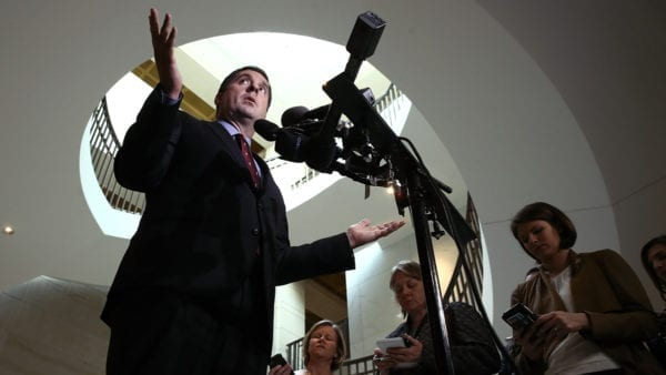 Chairman Of House Intel Committee Devin Nunes (R-CA) Briefs Media On Committee Inquiry Into Session's Russian Ties