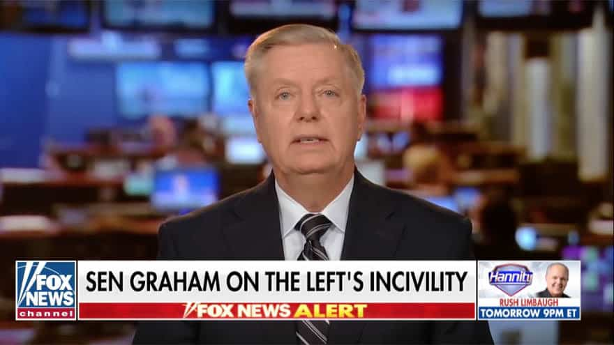 Partner Content - GRAHAM ON HANNITY: I Never Needed Police Protection BEFORE Kavanaugh Hearings