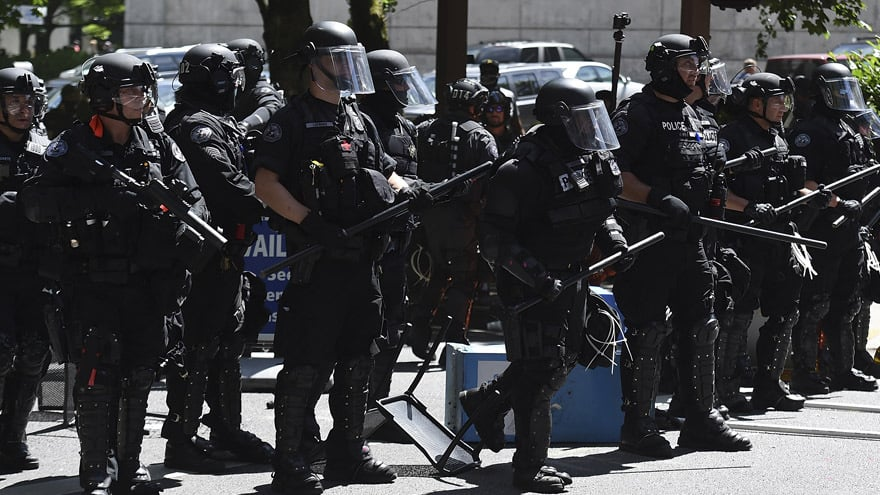 Partner Content - ANARCHY IN OREGON: Antifa Attacks Rock Portland, Riot Police Dispatched