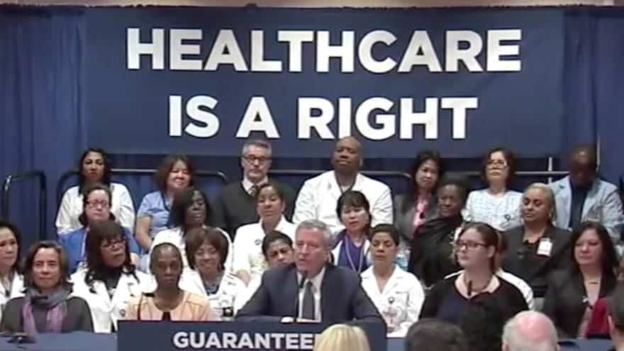 Partner Content - DE BLASIO DIGS IN: The NYC Mayor Urges Top Dems to Get Behind His Universal Healthcare Program
