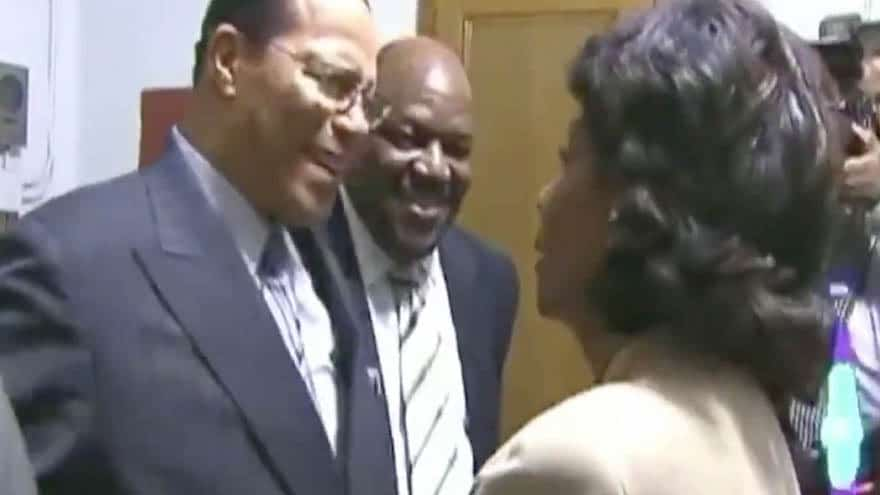 Partner Content - BUSTED: Video Surfaces of Maxine Waters Warmly Embracing Louis Farrakhan