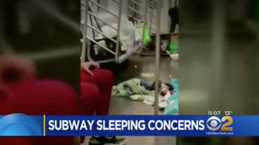 Partner Content - DE BLASIO'S NYC: New Yorkers FUME as City's Homeless 'Takeover' Subway Cars