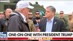 TRUMP ON HANNITY: It's 'Common Sense' to Protect Americans with a Border Barrier