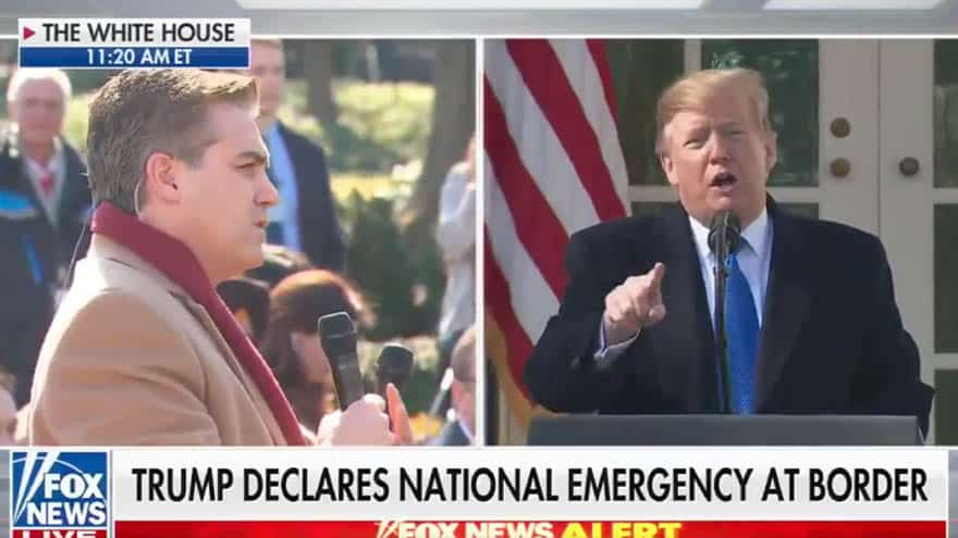 Partner Content - CNN SLAMMED: Trump UNLOADS on Jim Acosta for Asking if He's 'Concocting This Emergency'