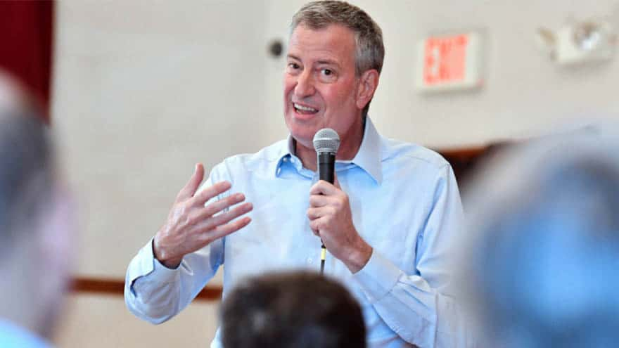 Partner Content - NO THANKS! De Blasio Addresses Crowd of Just 'SIX PEOPLE' in New Hampshire Town Hall