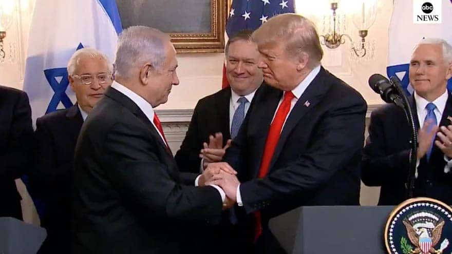Partner Content - MAKING HISTORY: President Trump Signs Proclamation Recognizing Golan Heights as Israeli Territory
