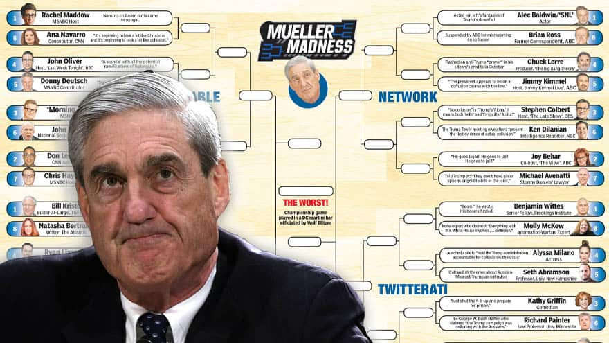 Partner Content - COLLUSION DELUSION CHALLENGE! Match Hannity's Bracket and Win Exclusive Prizes
