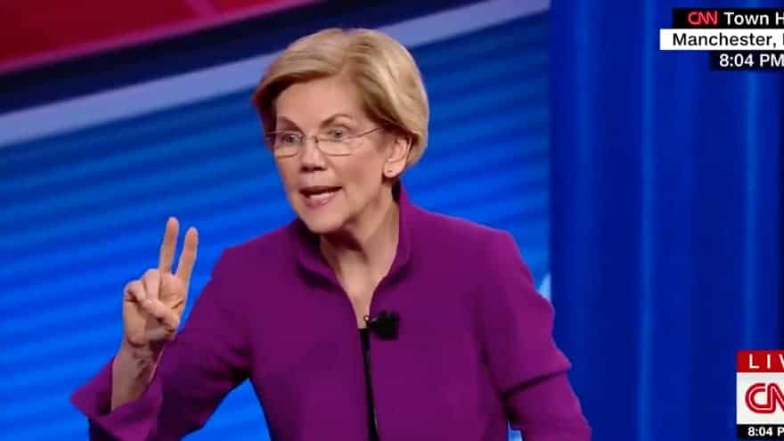 Partner Content - LIBERAL MATH: Warren Says '2% Tax' on Rich Americans Can Fund Free Childcare, College, Student Debt, MORE!